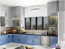 kitchen and home interiors beautiful blue toned interior designs kerala home design and