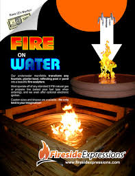 Fire Pit With Water Feature - fire on water fountains contemporary fire pits other by