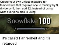 Meme Create Your Own - create your own unique measure for temperature that requires one to