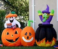 Home Depot Christmas Lawn Decorations by Halloween Inflatables Outdoor Halloween Decorations The Home Depot