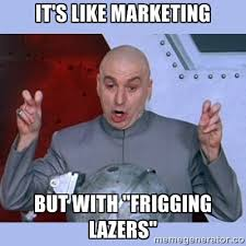 Marketing Meme - those two marketers walk into a bar and laugh at marketing memes