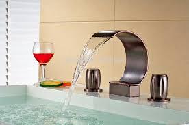 Vessel Faucets Oil Rubbed Bronze Luxury Waterfall Bathroom Vessel Sink Basin Faucet Oil Rubbed