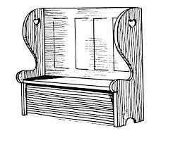 Wooden Chair Clipart Png Settle Furniture Wikipedia