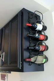 How To Make A Wine Rack In A Kitchen Cabinet No Kitchen Space Is Wasted With A Wine Rack Attached To The Side