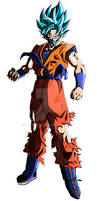 goku super saiyan blue beard mixed gi aashan deviantart
