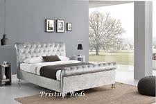 Velvet Sleigh Bed Velvet Sleigh Beds With Mattresses Ebay
