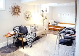 livingroom calgary mid century modern basement suite midcentury living room