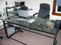 glass desk office desk design modern glass l shaped computer