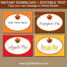 printable thanksgiving place cards with turkeys digital