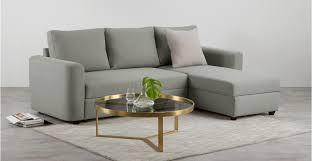 sofa bed storage aidian corner storage sofa bed silver grey made com