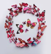 Pvc 3d Butterfly Wall Decor Cute Butterflies Wall Stickers Art