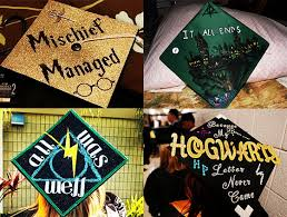 Ideas On How To Decorate Your Graduation Cap Harry Potter Graduation Caps Diy Cap Decoration Ideas For