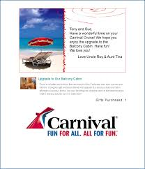 carnival honeymoon registry