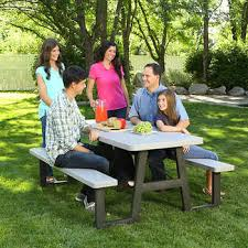 lifetime 6 folding outdoor picnic table brown 60110 lifetime 6 ft folding picnic table