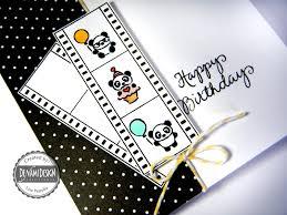 denami design blog panda birthday card