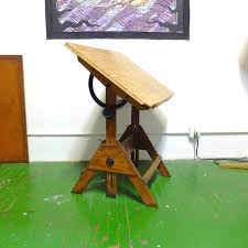 Wood Drafting Table Artist Wooden Drafting Table Anco Architect In Williamsburg