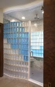Doorless Showers Bathroom Designs With Glass Blocks Glass Block - Glass bathroom designs