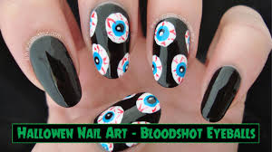 bloodshot eyeball nail art halloween nails youtube