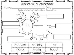 freebie label the parts of a reindeer christmas reindeer