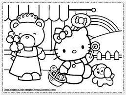 cute coloring sheets girls hello kitty pages gekimoe u2022 112388