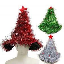 christmas tree tinsel wholesale tinsel christmas tree hat headband decorations fancy dress
