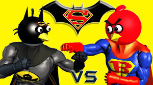 batman superman angry birds 3d animated mashup