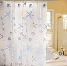 Machine Washable Shower Curtain Liner Seashell Fabric Shower Curtain Foter