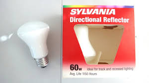 sylvania directional reflector 60watt light bulbs youtube