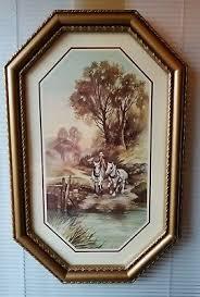 home interior cowboy pictures vintage homco home interior cowboy wood frame picture