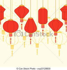 lantern new year new year seamless pattern with lanterns vectors search
