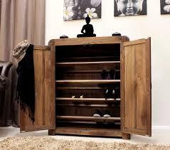 Hallway Shoe Storage Cabinet Strathmore Solid Walnut Home Furniture Hallway Shoe Storage