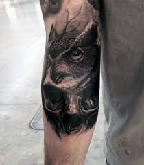 50 owl skull designs for cool ink ideas