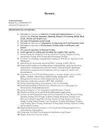 sle resume format for experienced software engineer software testing resume sles 2 years experience new 3 of