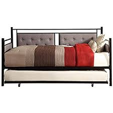 Tufted Daybed With Trundle Amazon Com Homelegance Octavia Urban Styling Metal Daybed With