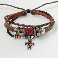 men charm bracelet images Men 39 s leather bracelet women 39 s leather bracelet cross bracelet