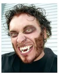 werewolf makeup tutorial male werewolf makeup using alex faction s tutorial and fangs from v