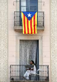 Barcelona Spain Flag Thousands Protest Against Catalonian Independence In Spain Daily