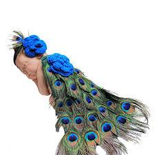 peacock headband jastore photography prop baby peacock crochet