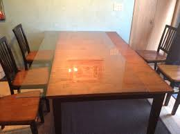 Build A Solid Wood Table Top Local Woodworking Clubs Wooden Table by We Put A Glass Top On Our Wooden Kitchen Table Jill Cataldo