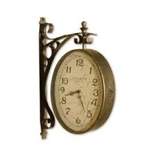Uttermost Clocks Malvina Two Sided Wall Clock Unique Double Face Hanging Cl