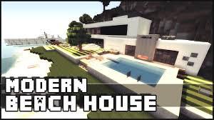 minecraft modern beach house u0026 yacht youtube