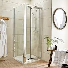 Shower Door 700mm Premier Pacific Bi Fold Shower Door Aqbd7 700mm Polished Clear