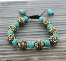 turquoise beads bracelet images Traditional tibetan turquoise bead bracelet thedharmashop jpeg