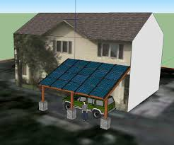 Carport Designs Blue Horizon Solar Sketch Up Carport Design Sketchup Project