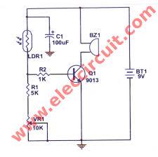 simple refrigerator door alarm circuit eleccircuit com