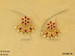 kempu earrings kemp earrings pie punjabi suit kemp earrings manek