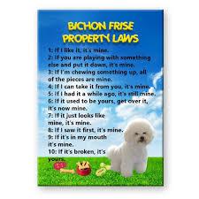bichon frise quilt amazon com bichon frise property laws fridge magnet funny