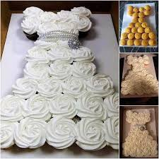 bridal cupcakes bridal shower wedding dress cupcake cake pinspired creations