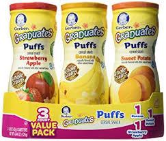 graduates snacks gerber graduates puffs variety pack 1 48 oz 3 pk