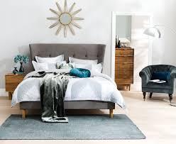cino upholstered bed frame light grey bedroom furniture forty
